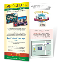 Summer Shakes promotional rack card