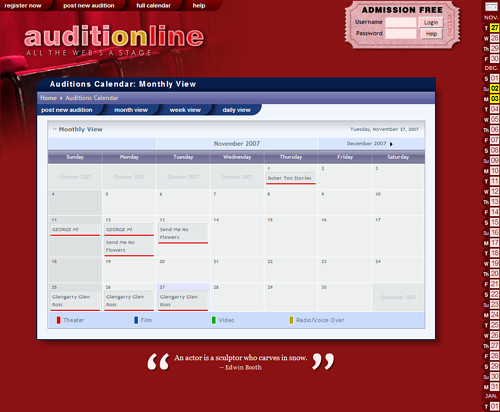 Auditionline page image